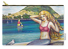 Mount Maunganui Beach Mermaid 160313 Carry-all Pouch
