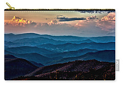 Carry-all Pouch featuring the photograph Mount Mitchell Sunset by John Haldane