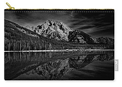 Mount Moran In Black And White Carry-all Pouch