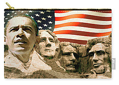 Barack Obama On Mount Rushmore - American Art Poster Carry-all Pouch