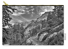 Mount Pilchuck Black And White Carry-all Pouch by Charlie Duncan