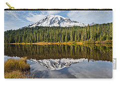Carry-all Pouch featuring the photograph Mount Rainier And Reflection Lakes In The Fall by Jeff Goulden