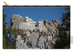 Mount Rushmore Avenue Of Flags Carry-all Pouch