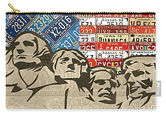 Mount Rushmore Monument Vintage Recycled License Plate Art Carry-all Pouch