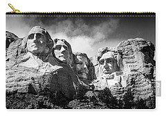 Mount Rushmore National Memorial In Black And White Carry-all Pouch