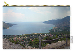 Mountain And Sea View In Greece Carry-all Pouch