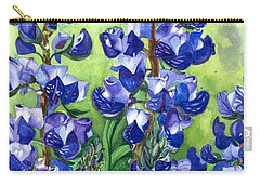 Carry-all Pouch featuring the painting Mountain Blues Lupine Study by Barbara Jewell