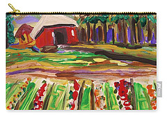 Carry-all Pouch featuring the painting Mountain Farm by Mary Carol Williams