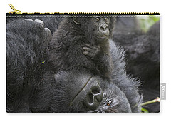 Mountain Gorilla Baby Playing Carry-all Pouch by Suzi  Eszterhas