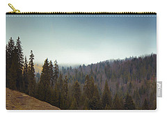 Mountain Landscape In Romania Carry-all Pouch by Vlad Baciu