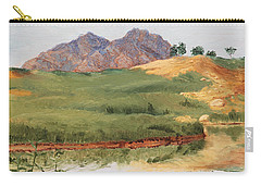 Mountain Landscape With Egret Carry-all Pouch
