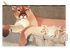 Mountain Lion Carry-all Pouch by Dan Miller