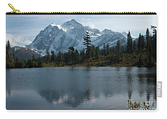 Mountain Reflection Carry-all Pouch by Rod Wiens