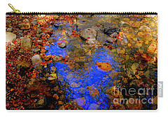 Mountain Stream Covered With Fall Leaves Carry-all Pouch