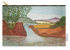 Carry-all Pouch featuring the painting Mountain Stream by Tracey Williams
