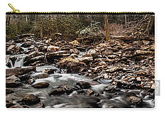 Carry-all Pouch featuring the photograph Icy Mountain Stream by Debbie Green