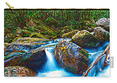 Carry-all Pouch featuring the photograph Mountain Streams by Alex Grichenko