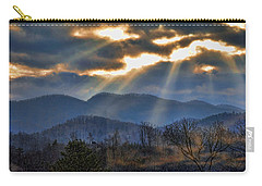 Carry-all Pouch featuring the photograph Mountain Sunburst by Kenny Francis