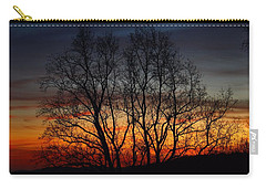 Carry-all Pouch featuring the photograph Mountain Sunset by Kathryn Meyer