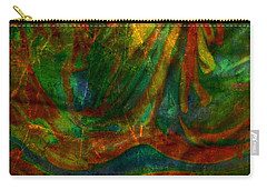 Carry-all Pouch featuring the mixed media Mountains In The Rain by Ally  White