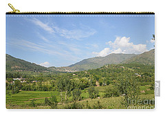 Carry-all Pouch featuring the photograph Mountains Sky And Clouds Swat Valley Pakistan by Imran Ahmed