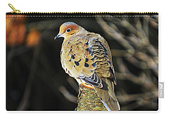 Mourning Dove On Post Carry-all Pouch