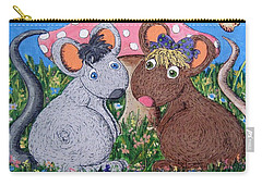 Carry-all Pouch featuring the painting Mouse World by Megan Walsh