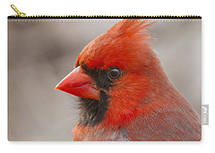 Mr Cardinal Portrait Carry-all Pouch by Mircea Costina Photography