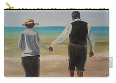 Carry-all Pouch featuring the painting Mr. Carson And Mrs. Hughes by Bev Conover