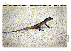 Carry-all Pouch featuring the photograph Mr. Gecko by Pennie  McCracken