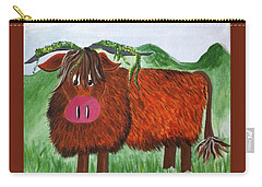 Mr Highland Cow 2 Carry-all Pouch