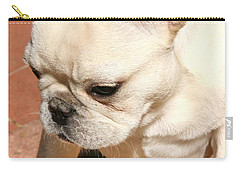 French Bulldog Ms Quiggly  Carry-all Pouch