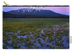 Carry-all Pouch featuring the photograph Mt. Bachelor Twilight by Kevin Desrosiers