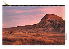 Carry-all Pouch featuring the photograph Mt Garfield Sunrise by Ronda Kimbrow