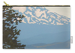 Carry-all Pouch featuring the painting Mt Hood by Karen Ilari