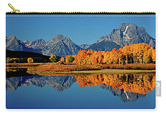 Mt. Moran Reflection Carry-all Pouch by Ed  Riche