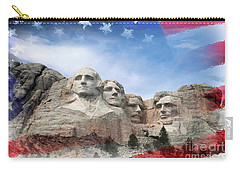Mt Rushmore Flag Frame Carry-all Pouch