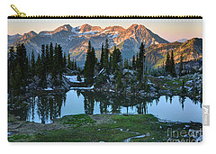 Mt. Timpanogos At Sunrise From Silver Glance Lake Carry-all Pouch