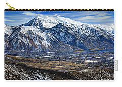 Mt. Timpanogos In Winter From Utah Valley Carry-all Pouch