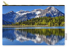 Mt. Timpanogos Reflected In Silver Flat Reservoir - Utah Carry-all Pouch
