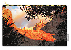 Carry-all Pouch featuring the photograph Mt. Whitney Sunrise by Alan Socolik