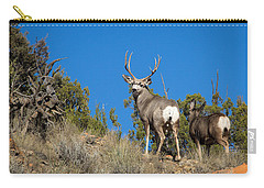 Carry-all Pouch featuring the photograph Mule Deer Buck by Michael Chatt