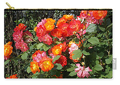 Multi Colored Rose Bush Carry-all Pouch by Catherine Gagne