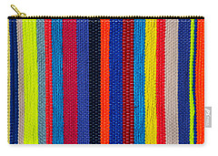 Multicolor Vertical Line Carry-all Pouch