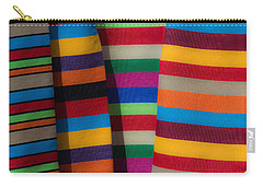 Multicolour Horizontal Line Carry-all Pouch
