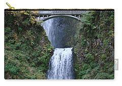 Multnomah Falls Carry-all Pouch by Athena Mckinzie