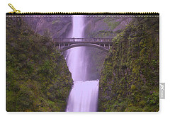 Multnomah In The Drizzling Rain Carry-all Pouch by Jeff Swan