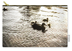 Mumma Duck And Ducklings Carry-all Pouch
