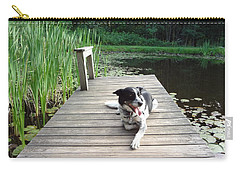 Carry-all Pouch featuring the photograph Mundee On The Dock by Michael Porchik