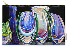 Carry-all Pouch featuring the painting Murano Crystal by Roger Rockefeller